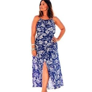 NWT Swimsuit for All Floral Keyhole Maxi coverup